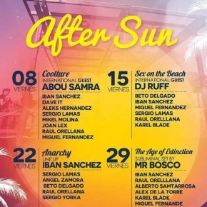 After Sun ° AUGUST 2014 ° Mac Arena Mar ° Beach Club ° 15:00H-3:00H