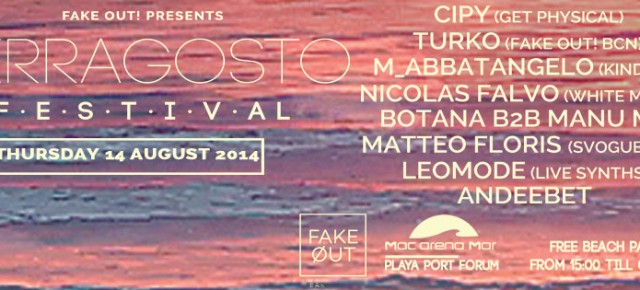 FERRAGOSTO FREE BEACH FESTIVAL, THURSDAY AUGUST 14TH