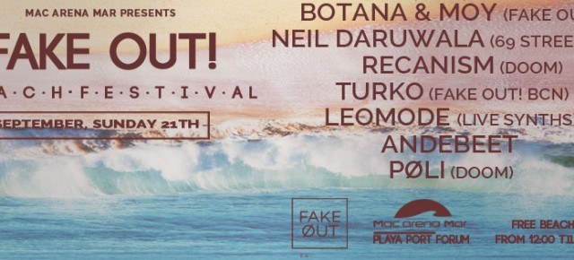 FAKE OUT! BEACH FESTIVAL, SEPTEMBER SUNDAY 21 TH