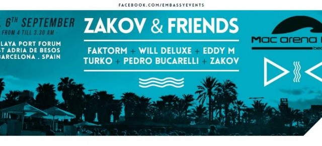 ZAKOV & FRIENDS, SEPTEMBER SATURDAY 06TH