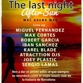 AFTER SUN @ MACARENA MAR, OCTOBER 17TH FRIDAY